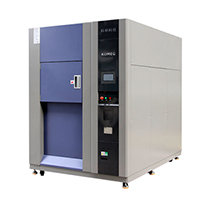 Three zone thermal shock chamber
